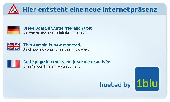 Hier entsteht eine neue Internetpräsenz - hosted by 1blu